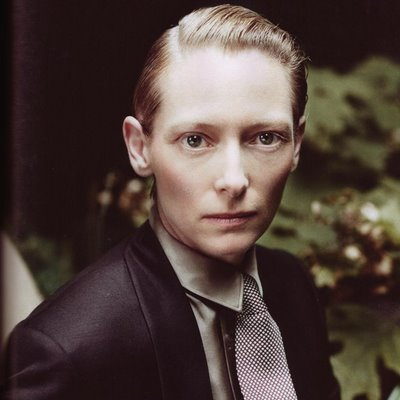 Tilda Swinton Gabriel Gif What a pretty boy/girl hybrid!